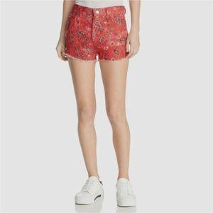 IRO Omiandato Mid-Rise Linen Mini Shorts
